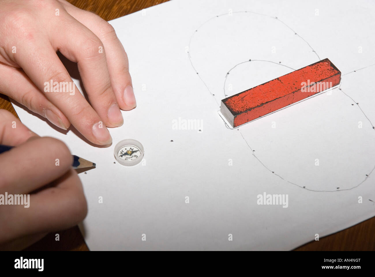 Magnetic Field Field Lines Stockfotos & Magnetic Field Field Lines ...