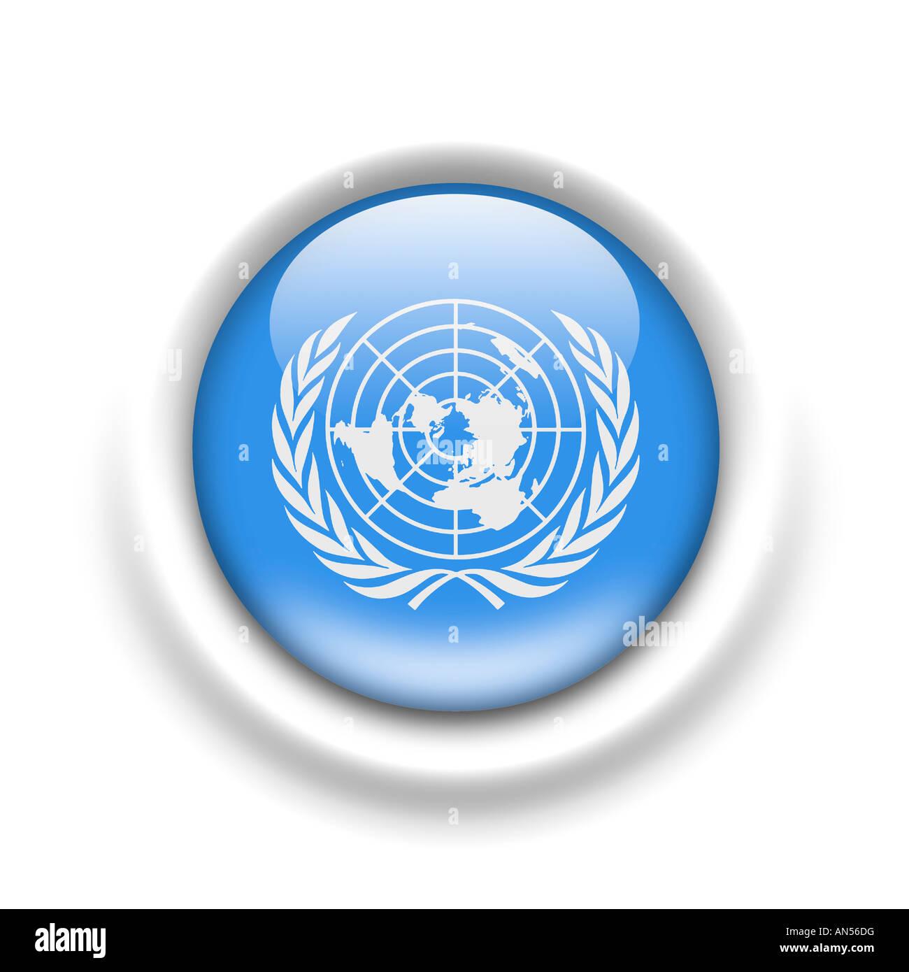 Flagge der Vereinten Nationen un Stockbild
