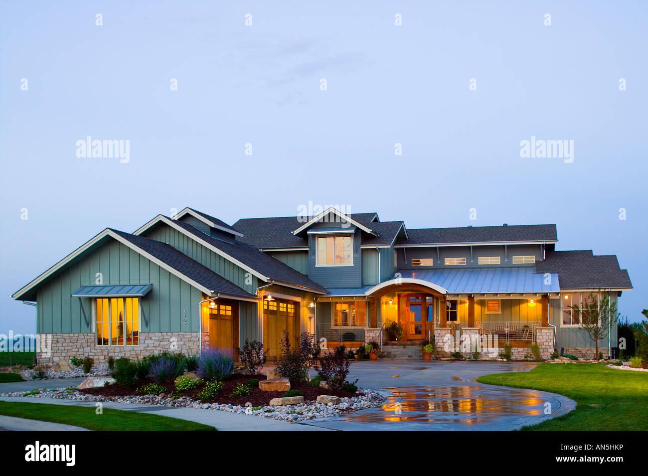 Colorado modernen Luxus Bauernhof Stil nach Hause Exterieur bei ...
