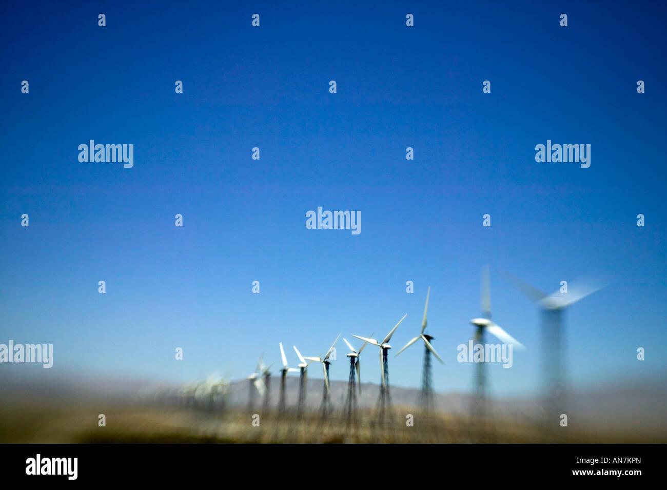 Windkraftanlagen in Kalifornien, USA Stockbild