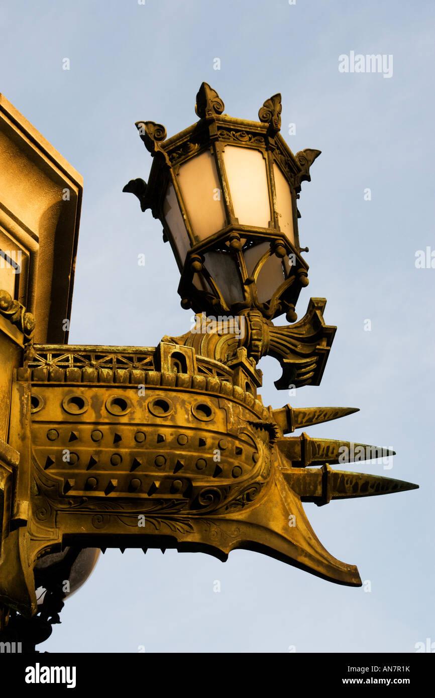 Laterne im Opera Garnier Paris Frankreich Stockbild
