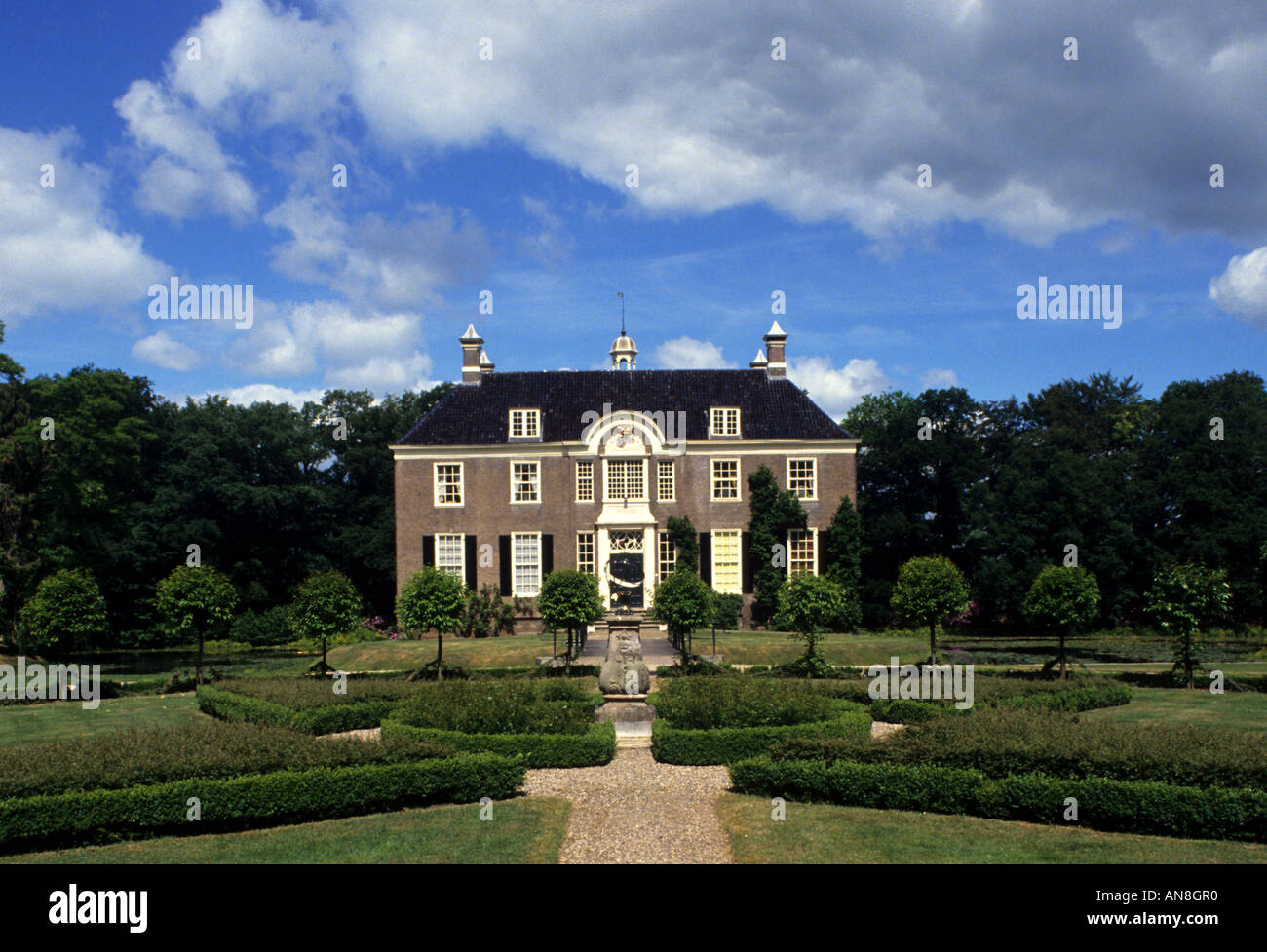 Overijsel Denkmal historische Architektur Burg Havezate Den Berg Salland Stockbild