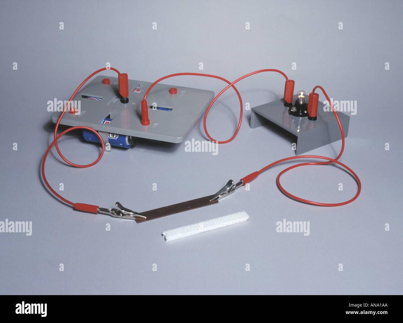 Einen leitenden Stromkreis Stockbild