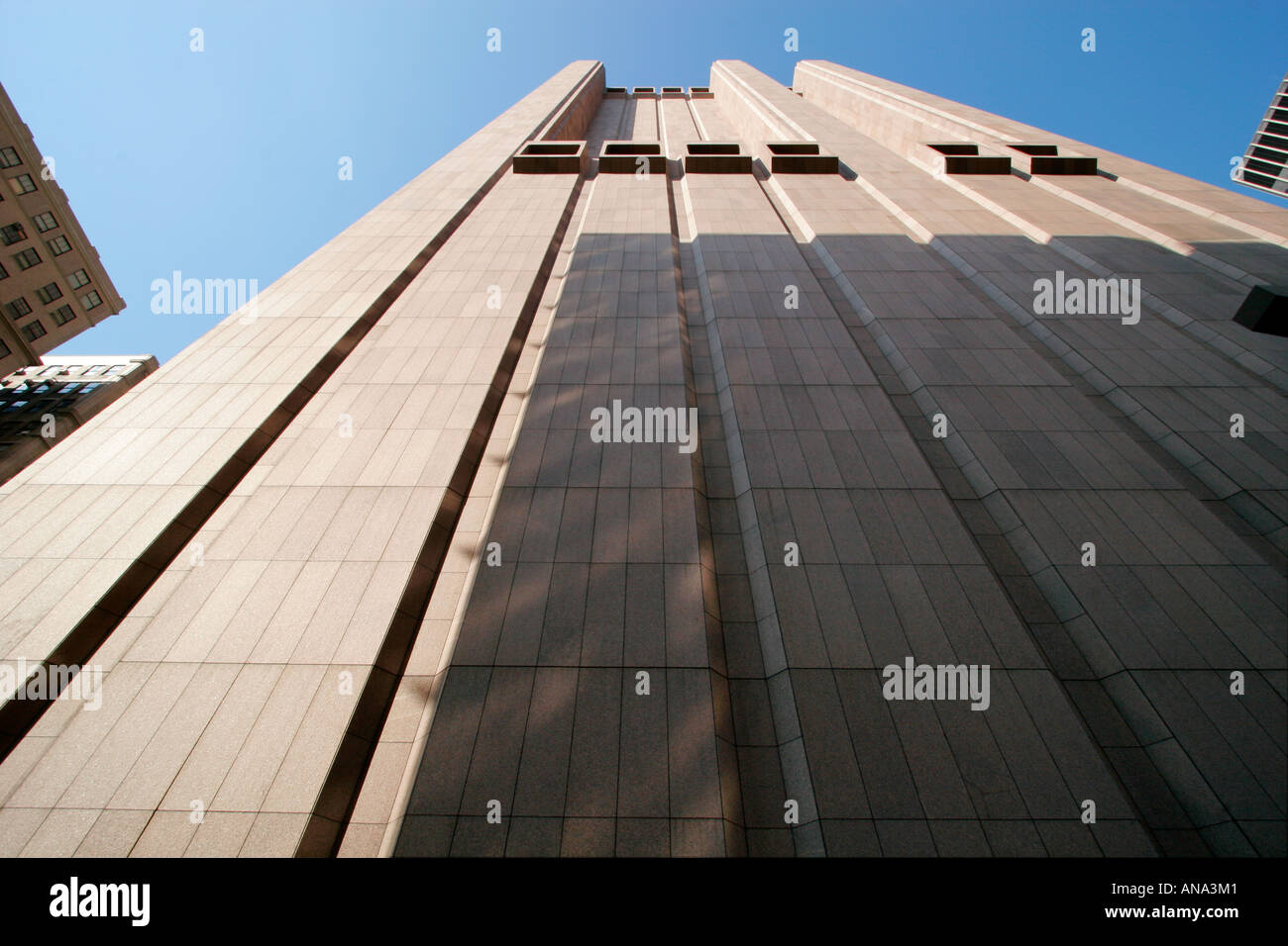 Die AT&T Gebäude in Tribeca, New York. Stockbild