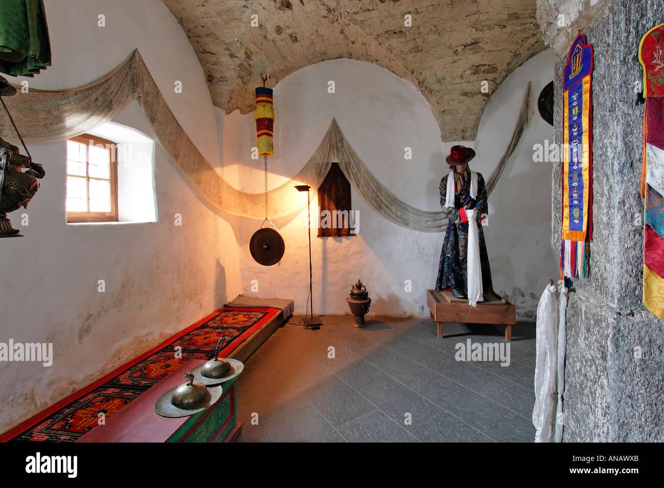 Meditationsraum, Messner Mountain Museum Auf Schloss Juval über Dem  Schnalstal, Südtirol, Italien