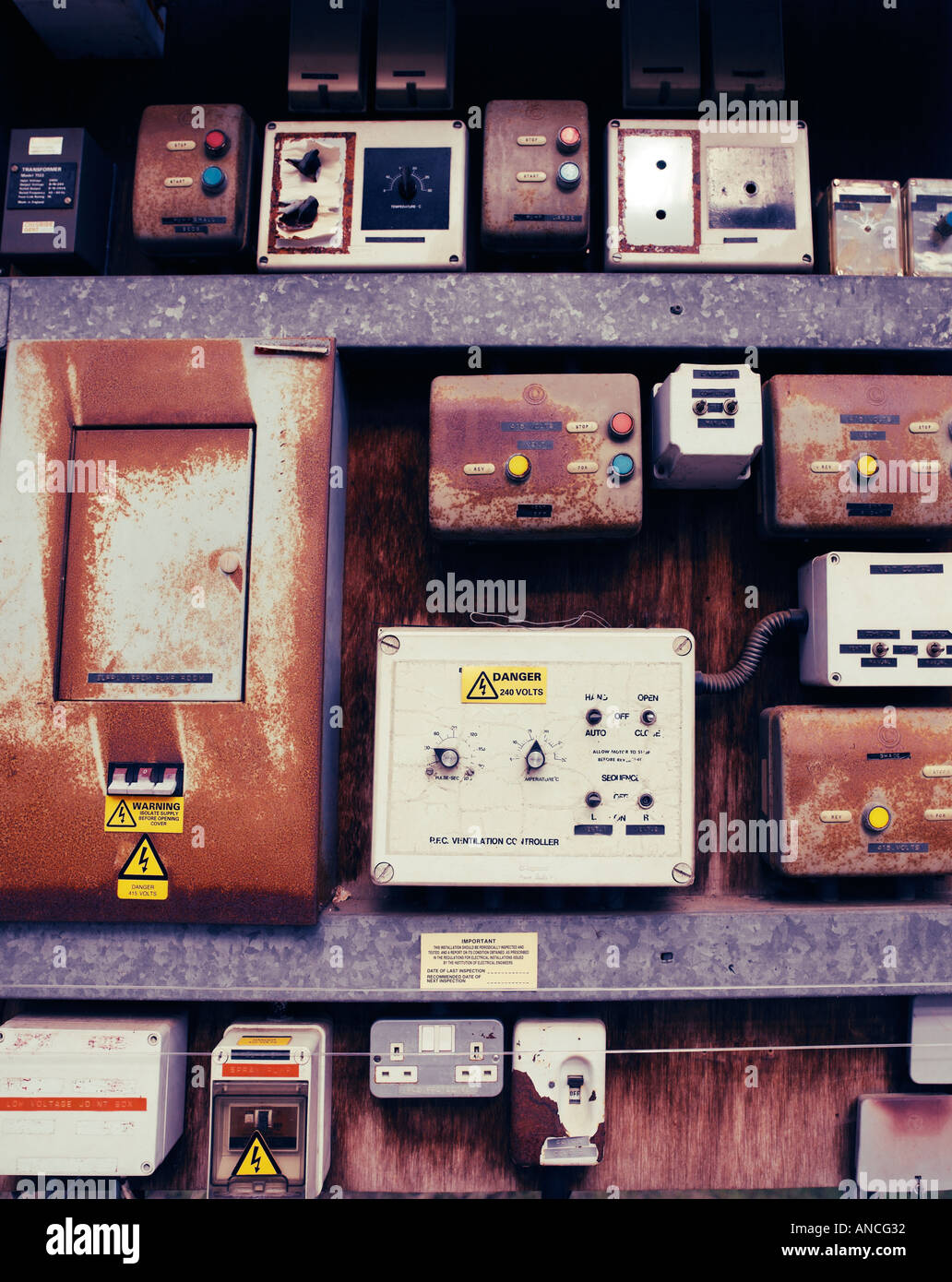 Elektrische Fuseboxes Stockbild