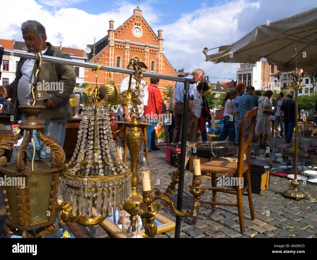 Wochenende Brüssel belgien flohmarkt brüssel marollen wochenende markt verkauften