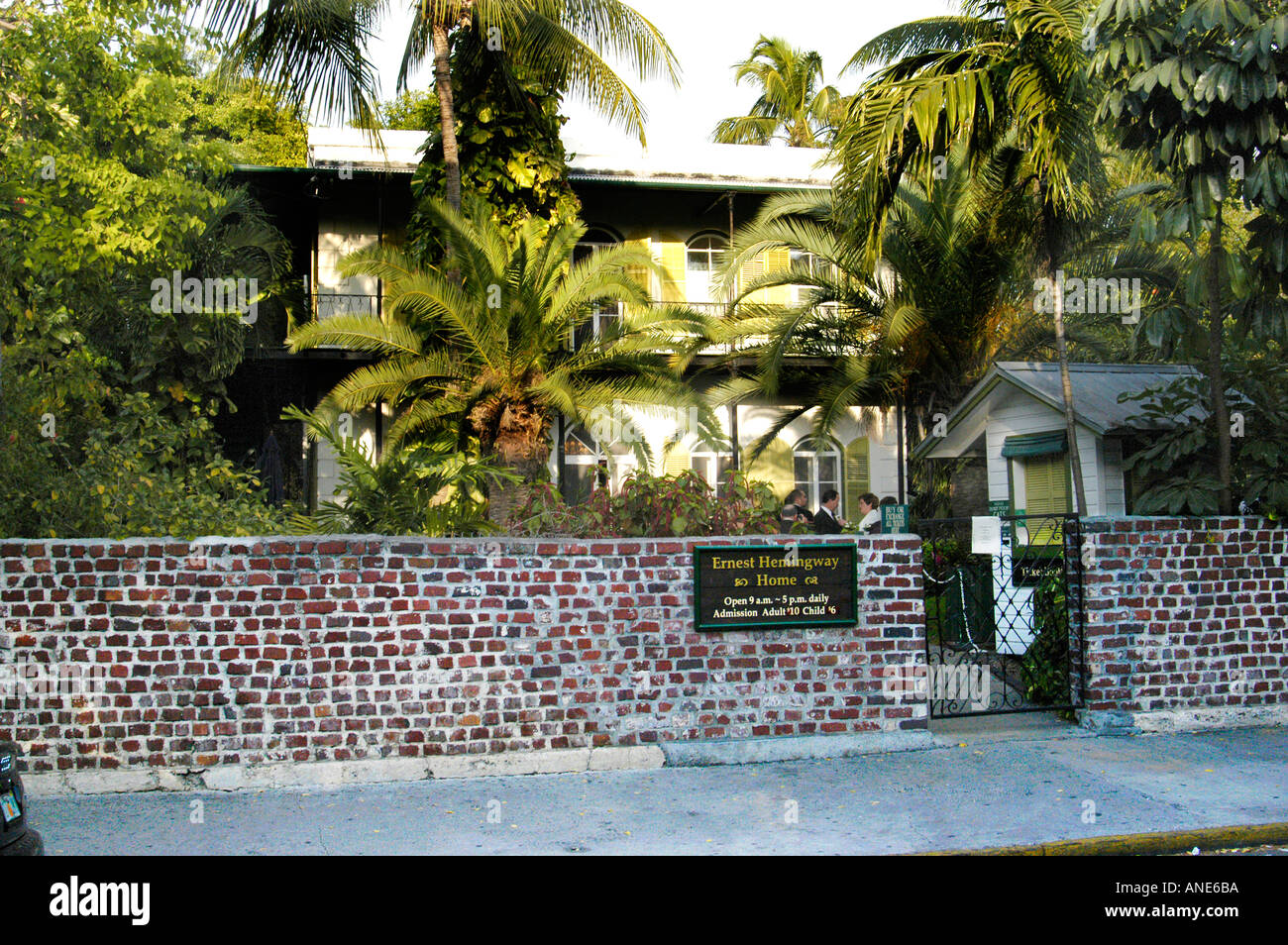 Ernest Hemingway Haus in Key West Florida FL Stockbild