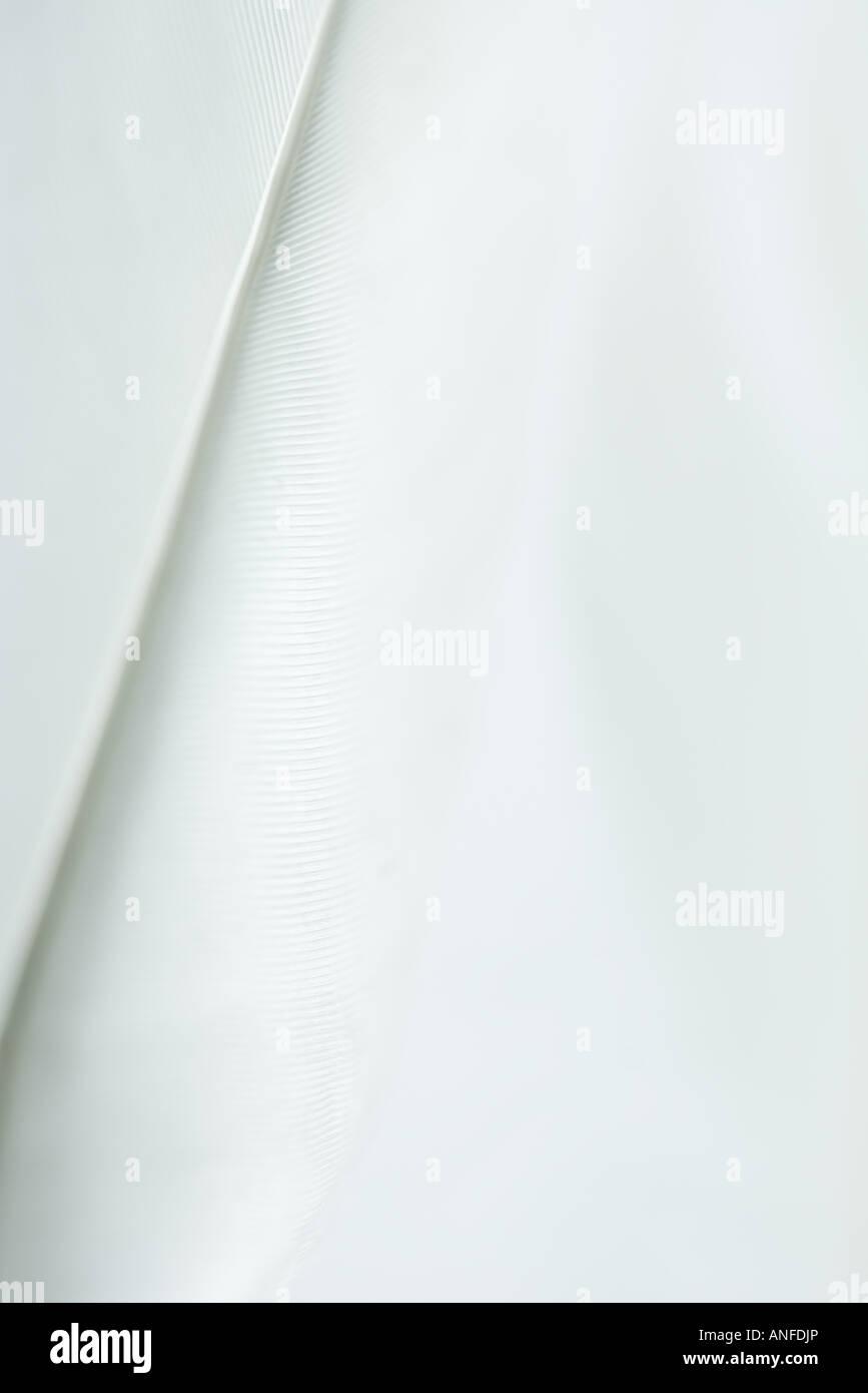 Weiße Feder, extreme Nahaufnahme Stockbild