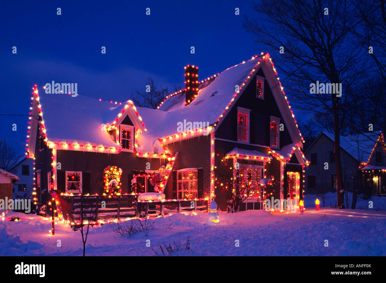 Weihnachtsessen Island.Haus Dekoriert Für Weihnachten Crapeau Prince Edward Island