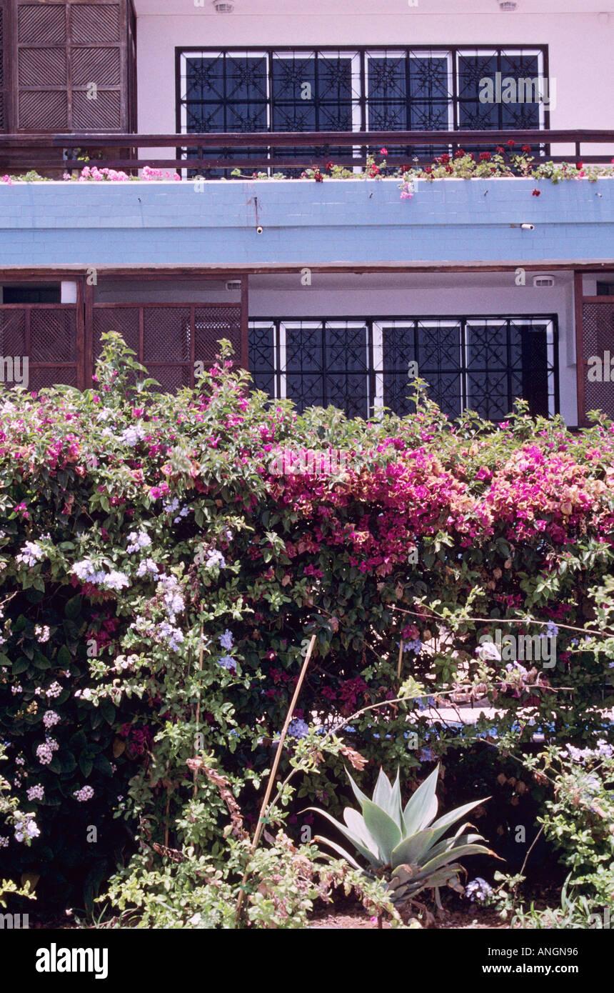 Wohnung außen, Ferienunterkünfte, Playa del Ingles, Insel Gran Canaria, Spanien, Europa. Stockbild