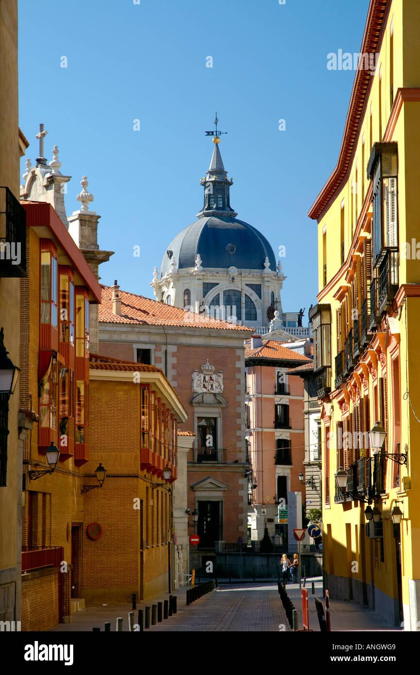 Kathedrale de Almudena, Madrid, Spanien Stockbild