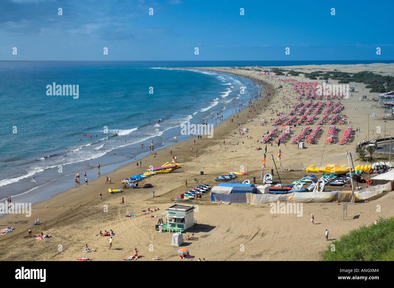 Playa del Ingles, Gran Canaria, Kanarische Inseln, Spanien Stockbild