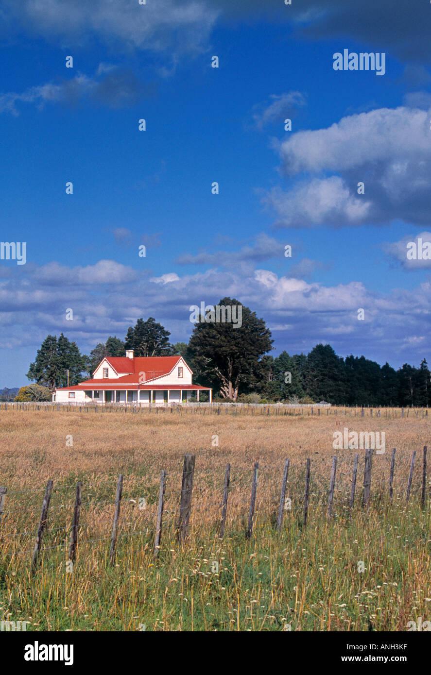 Alten Postkutsche Homestead, Northland, Neuseeland Stockbild