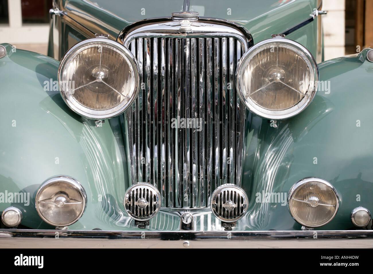 Detail eines Delahaye in den 30er-das Auto war ein Luxus-Automobil heute es ein beliebtes ist Sammlerstück Stockbild
