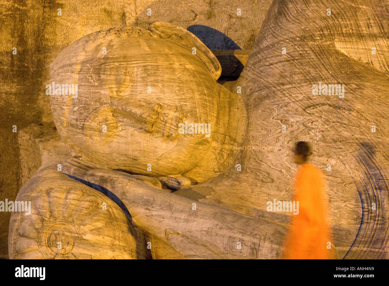 Buddha-Statue, Gal Vihara, Polonnaruwa, Sri Lanka Stockbild