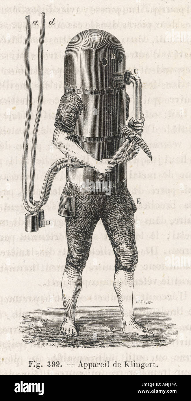 Amerikanischer Taucher Anzug Stockbild