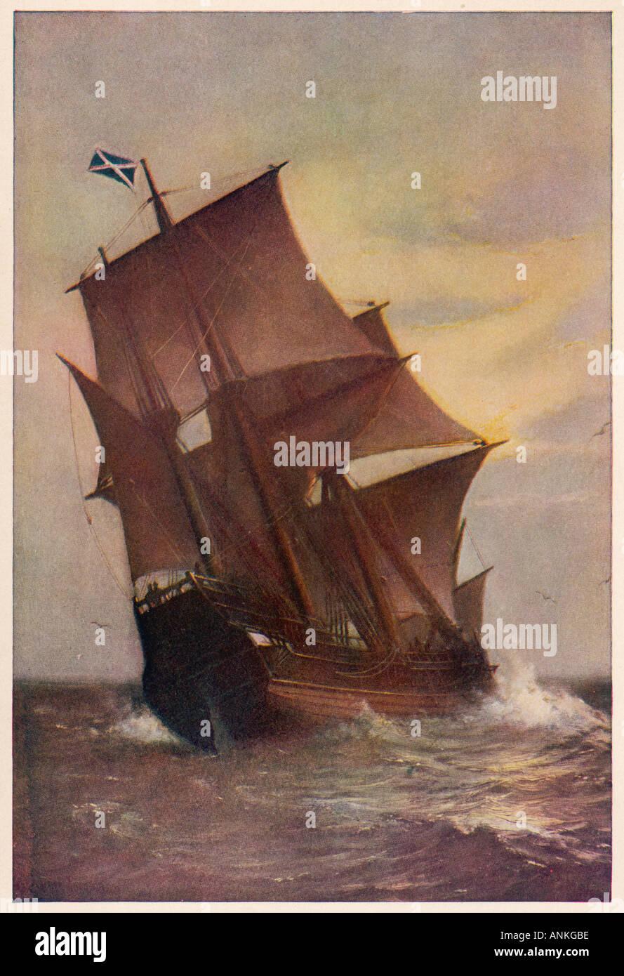 Die Mayflower Stockbild