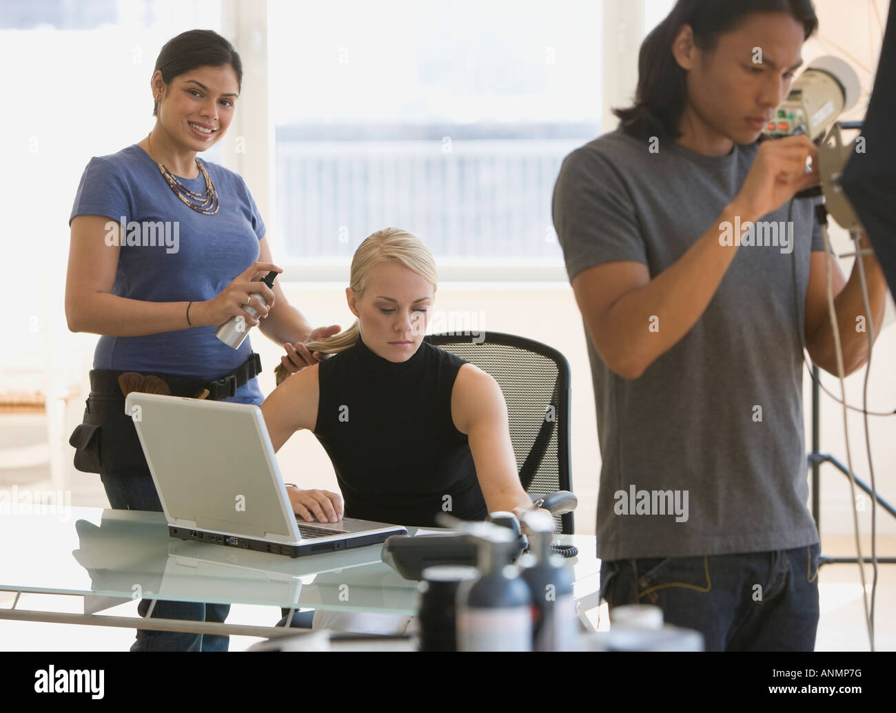 Business-Foto-Shooting im studio Stockbild