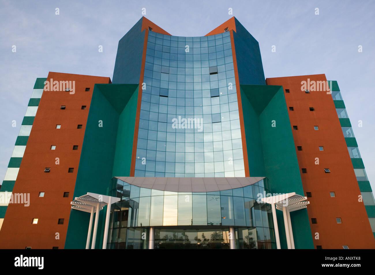 Andhra Pradesh, Hyderabad, Indien. HITEC Stadt, Major Center der indischen Call Centre Softwareindustrie Stockbild