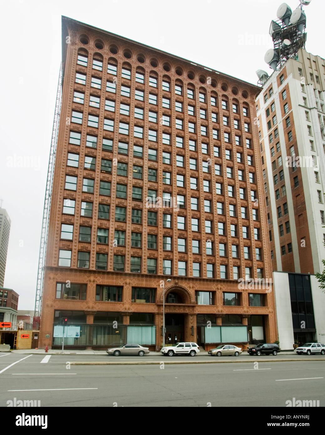 Prudential Guaranty Gebäude Stahlrahmen Terracotta Furnier Louis ...