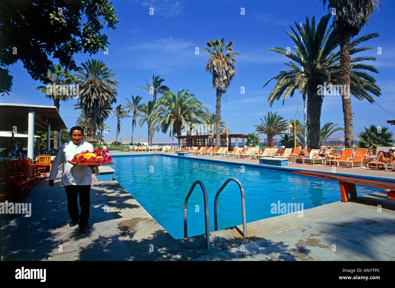 Schwimmbad von Paracas Hotel Paracas Halbinsel nahe der Stadt Pisco Peru redaktionellen Gebrauch Stockbild