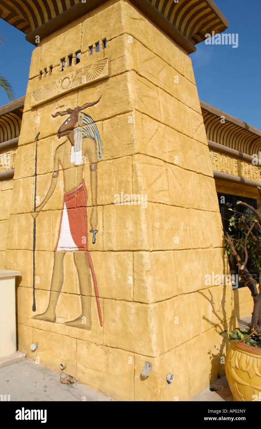 Außenseite des SFINX ägyptischen Thema Bar in Protaras auf der Mittelmeer Insel Zypern EU Stockbild