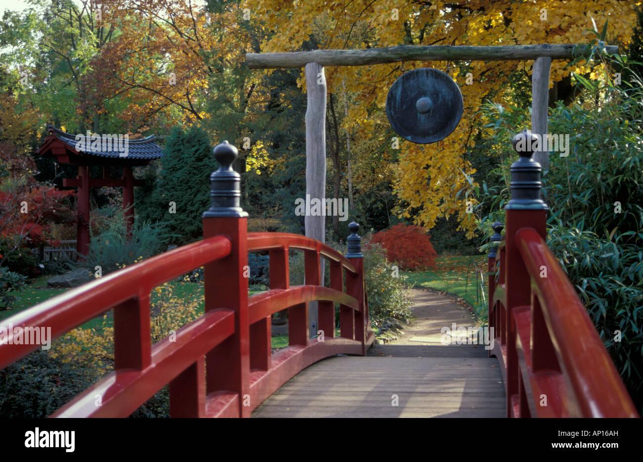 Brücke Japanischer Garten Leverkusen Nordrhein Westfalen