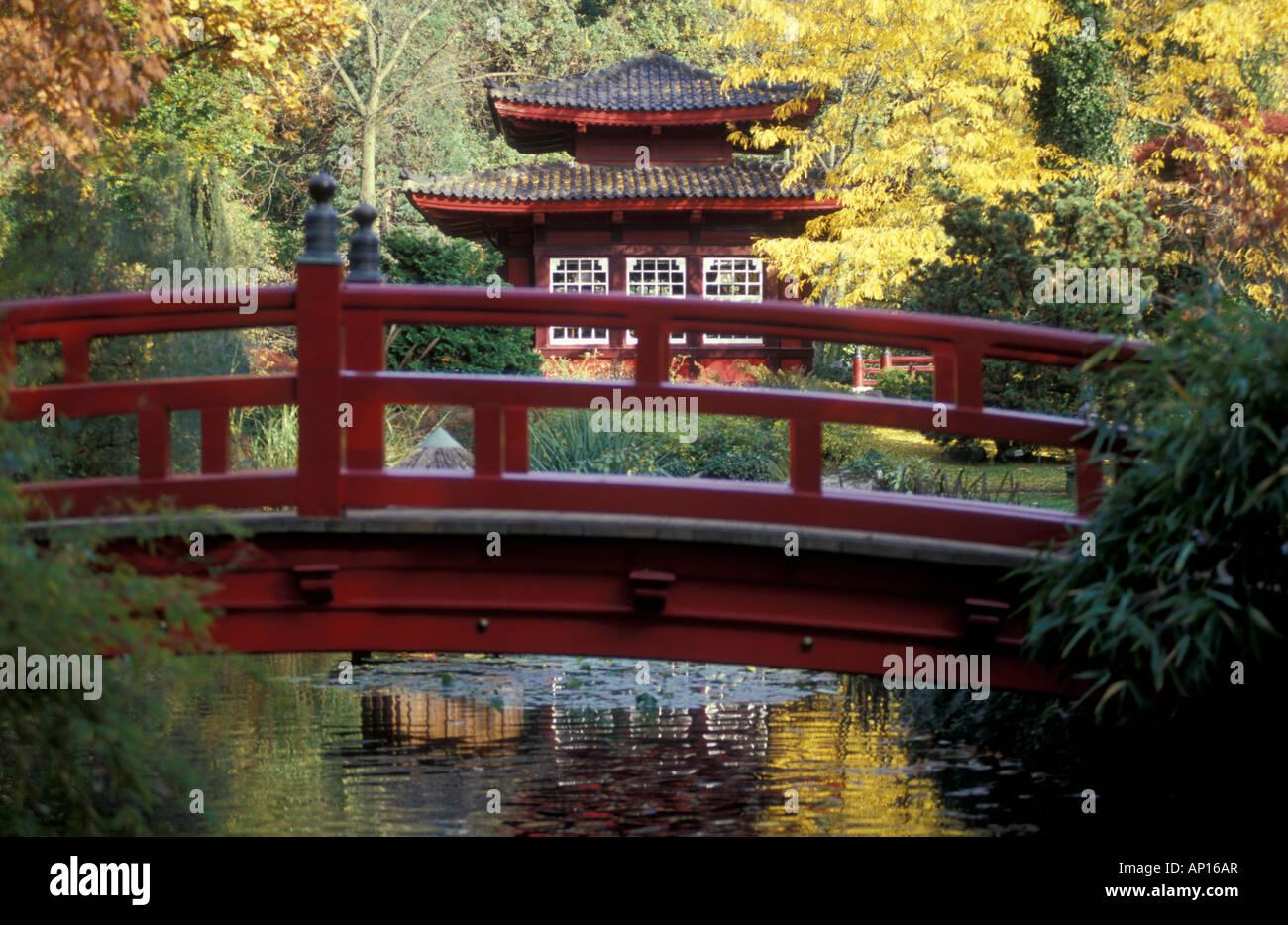Japanischer Garten Leverkusen Nordrhein Westfalen Deutschland