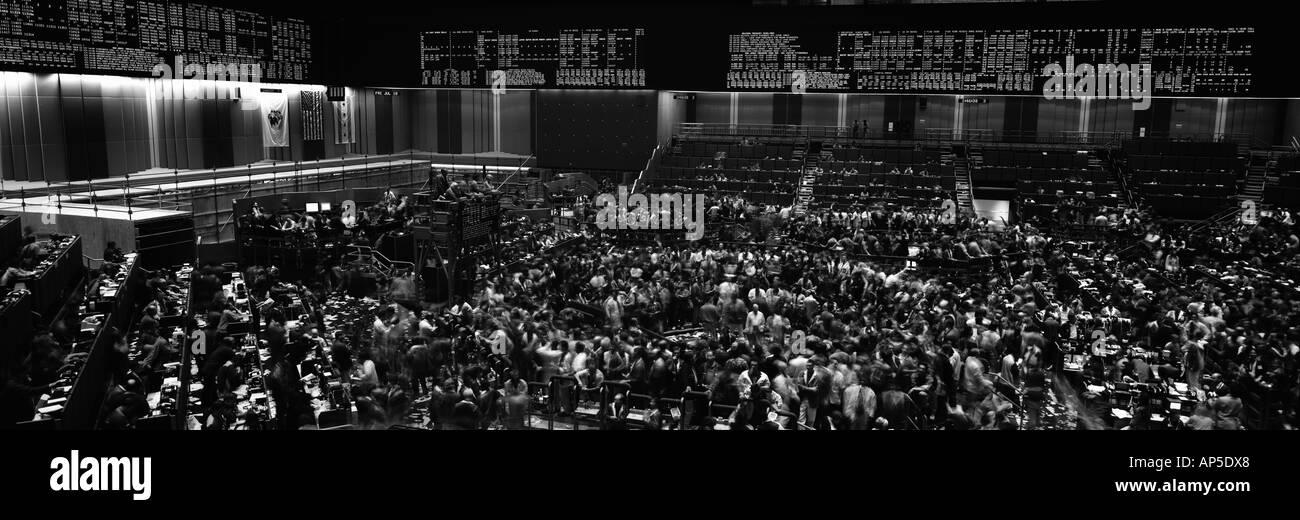 Graustufen Panoramablick auf der Chicago Mercantile Exchange Stockbild