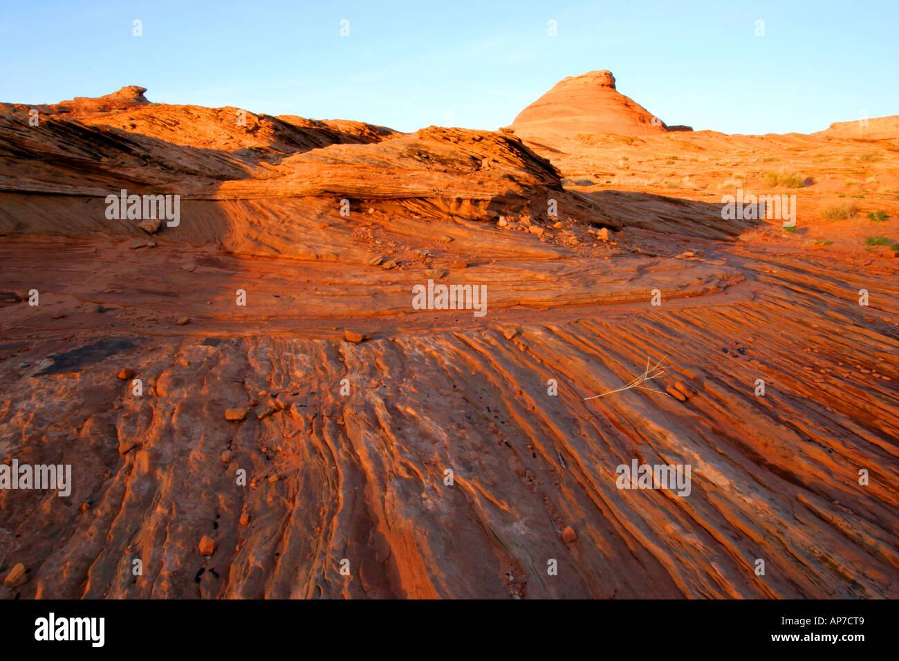 Sonnenuntergang in der Nähe von Page, arizona Stockfoto