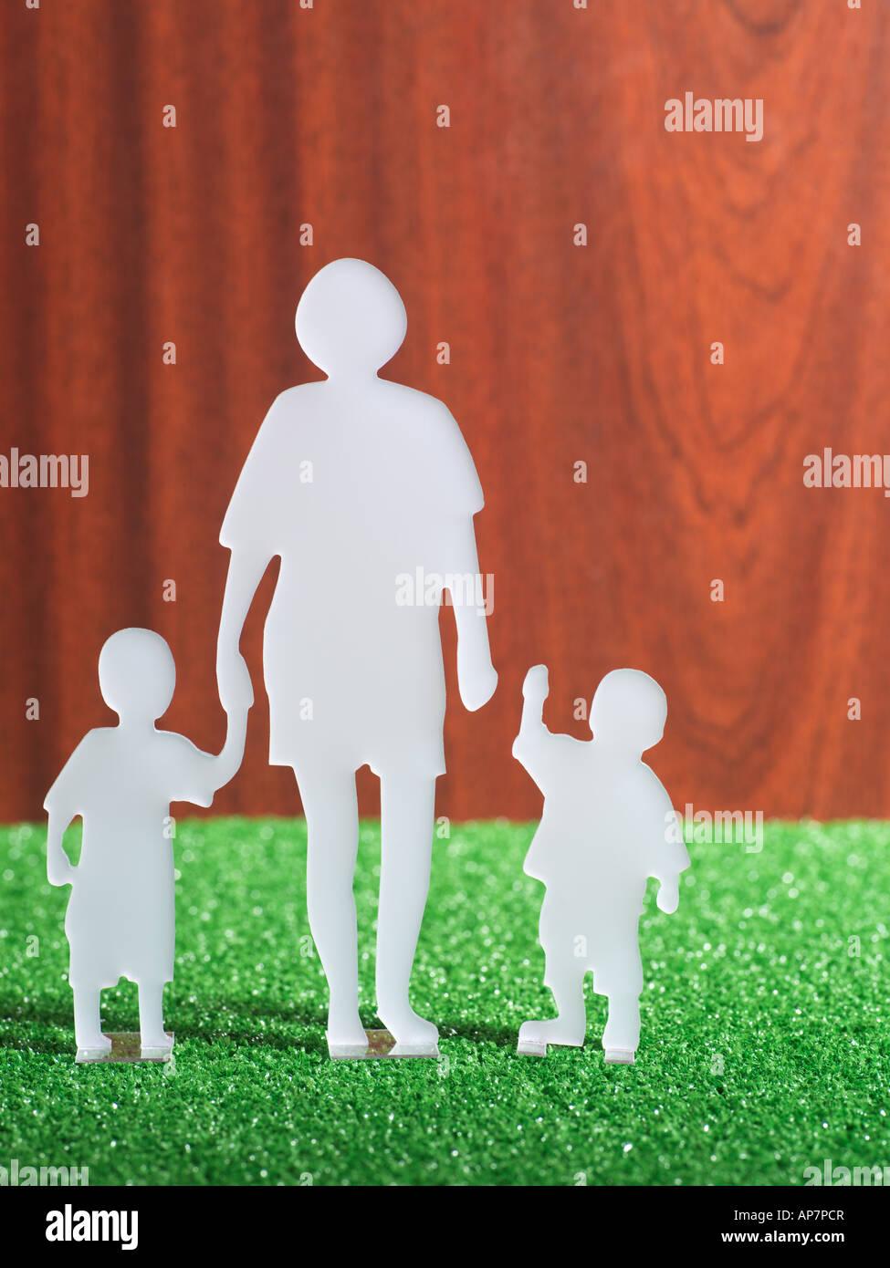 Modell-Familie Stockbild