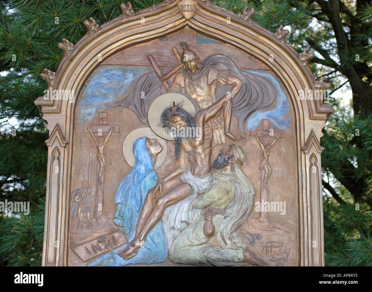 Jesus Christ Taken Down From The Cross Stockfotos & Jesus Christ ...