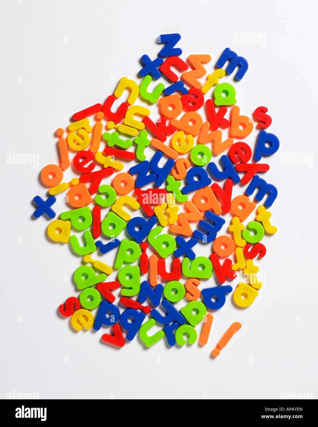plastische Buchstaben Stockbild