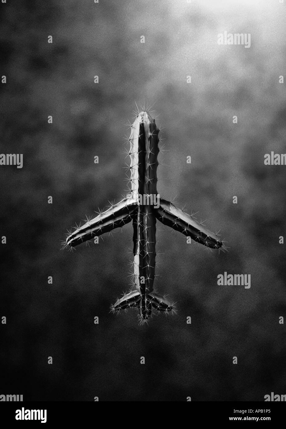 Computer generierte Bild eines Flugzeugs aus dem Kaktus Pflanze hergestellt Stockbild
