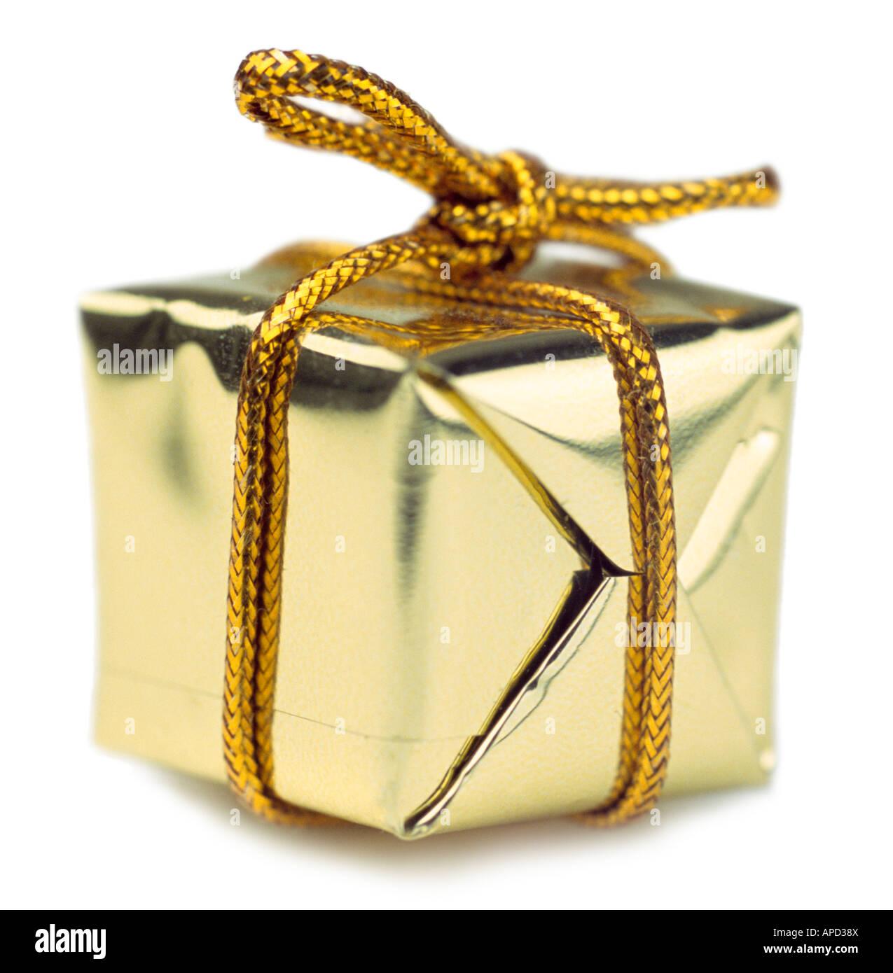 Verpacktes Geschenk Stockbild