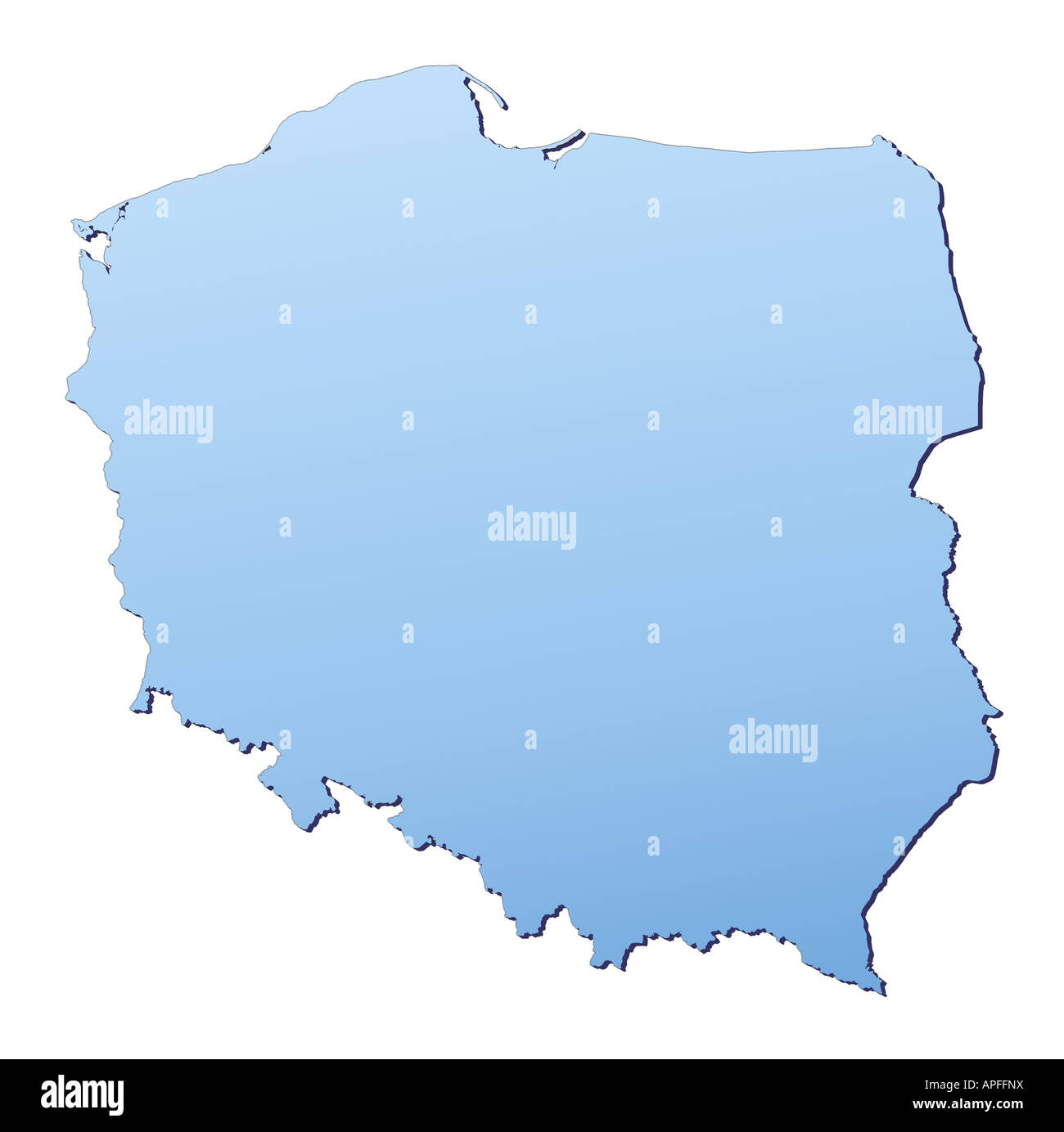 Polen Karte Umriss.Polen Karte Stockfotos Polen Karte Bilder Alamy