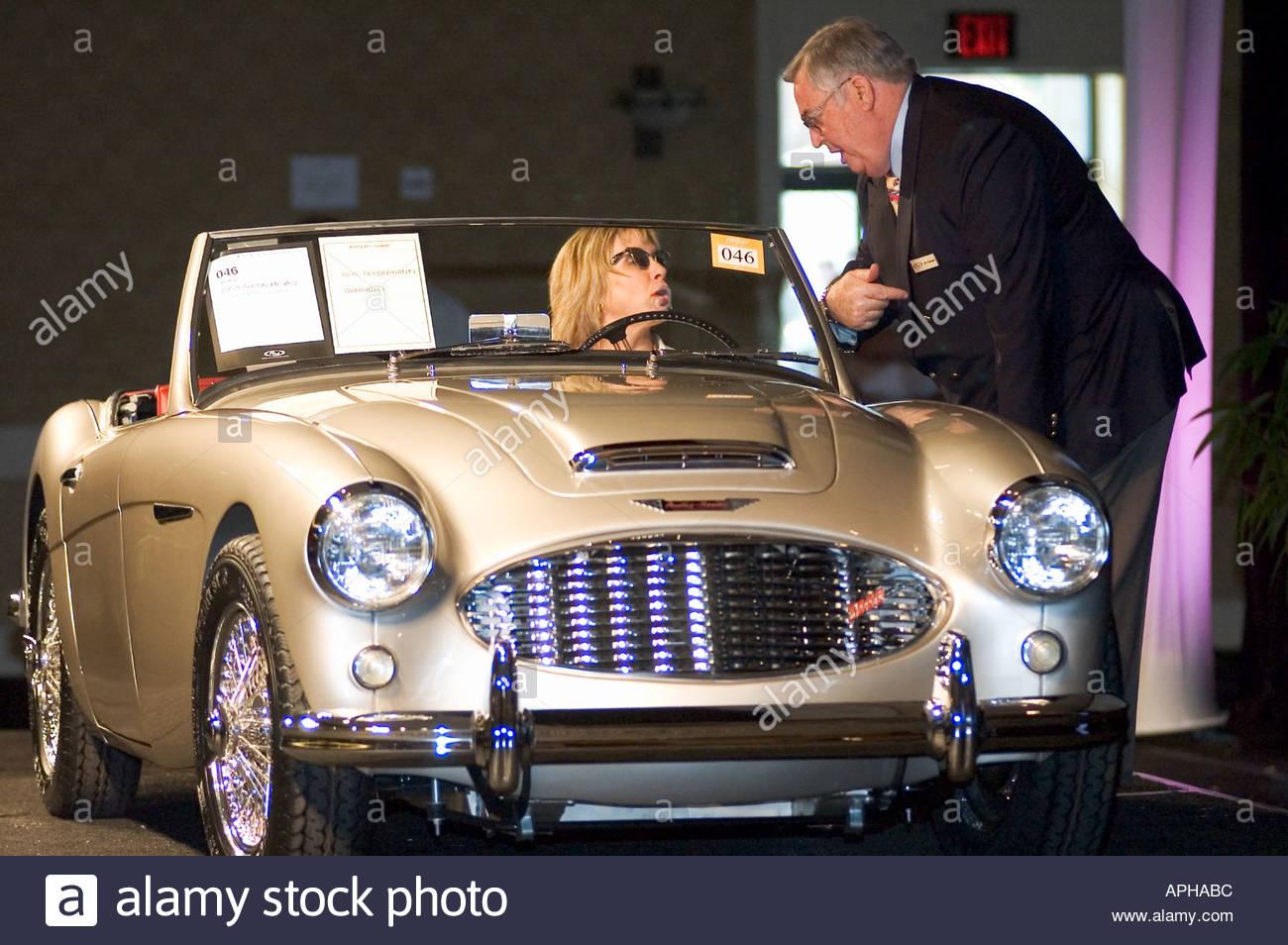 Eine Versteigerung bei RM Auktionen 2005 Vintage Sammler Auto Auktion 1959 Austin Healey 3000 MkI BT7 Roadster Stockbild
