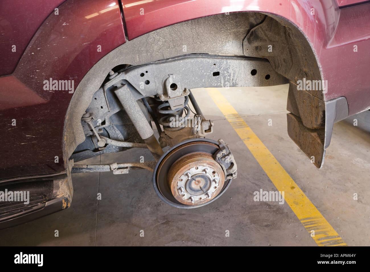 Rad Bremse und Federung Nabeneinheit auf 4 x 4 Fahrzeug Stockbild