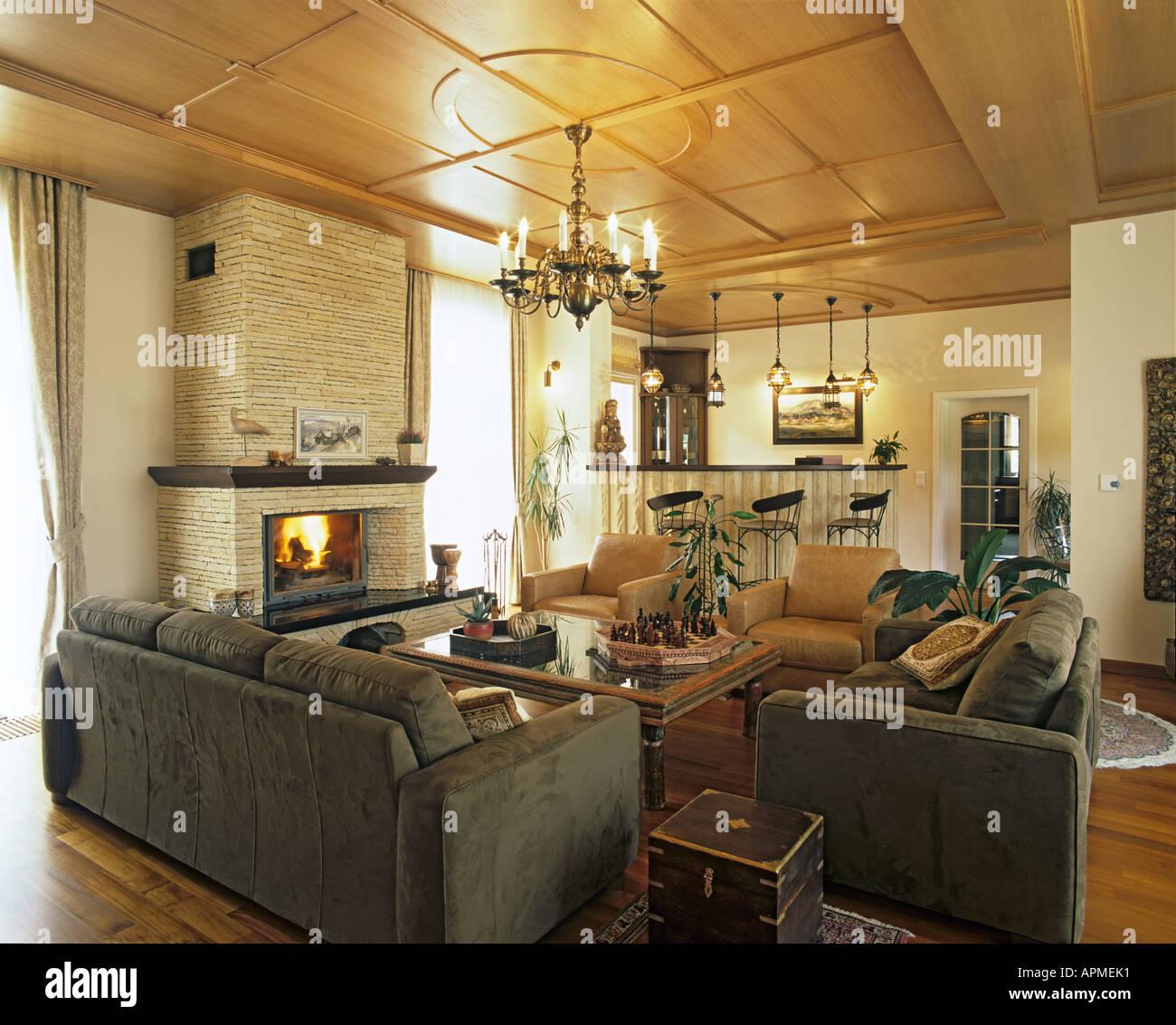 Wohnzimmer im Landhaus Stockfoto, Bild: 9041584 - Alamy
