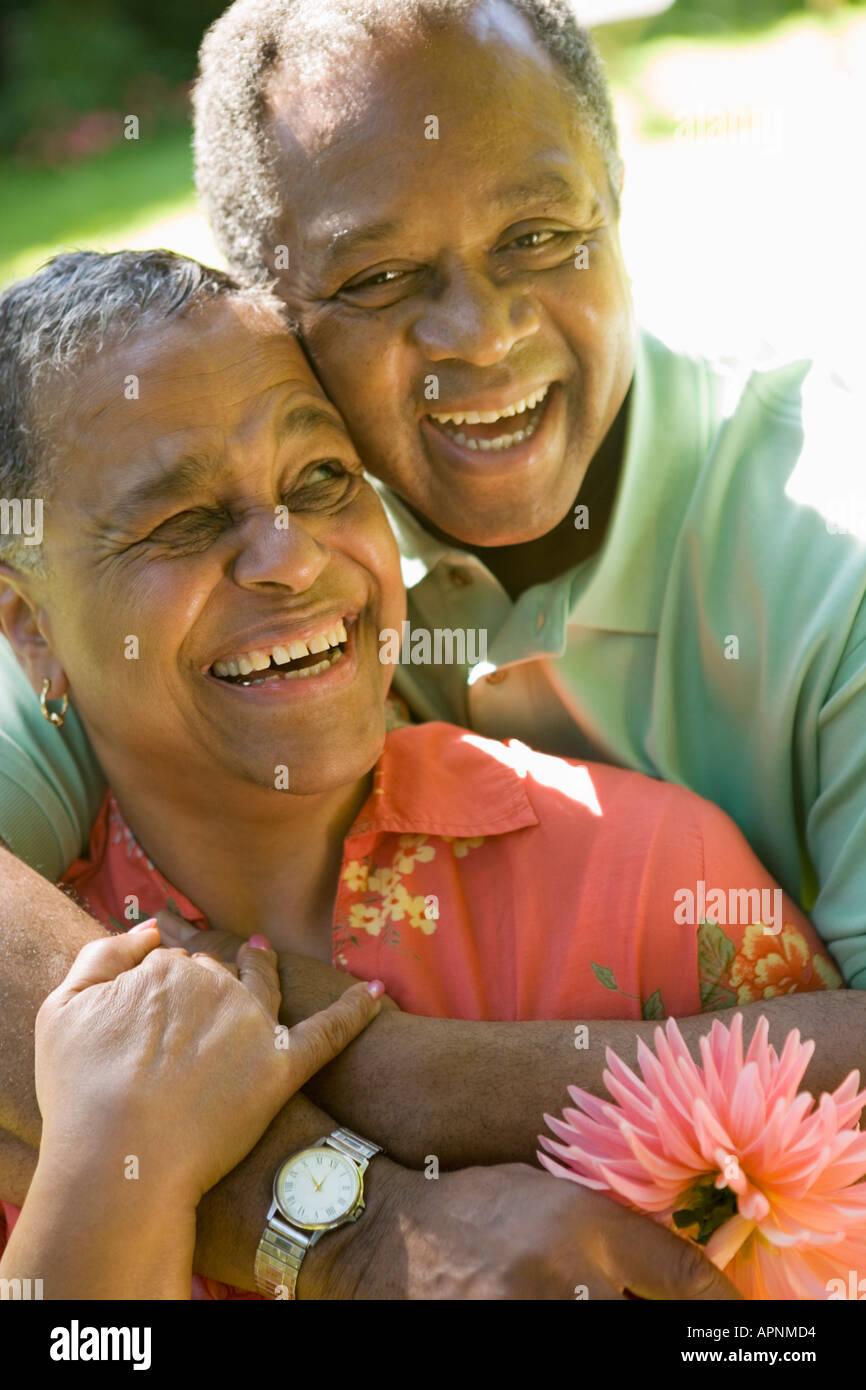 Porträt des Paares im freien Stockfoto