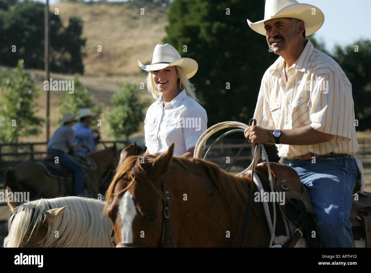 COWBOYS, KALIFORNIEN, UNS, USA Stockfoto