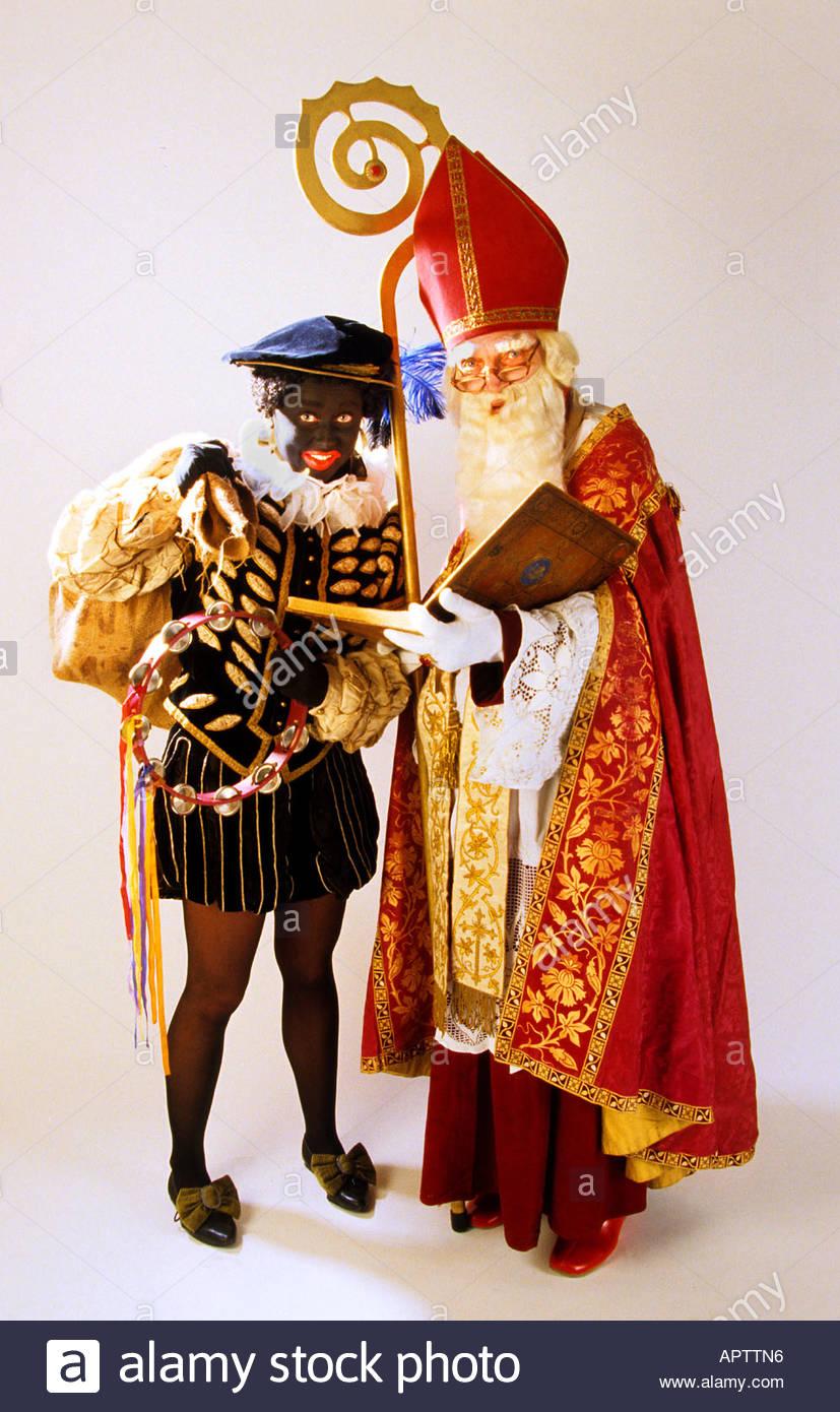 Sinterklaas und Zwarte Piet 5 Dec Niederländisch Vater Weihnachten ...