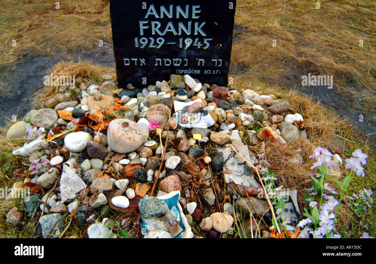 Anne frank belsen Stockfoto