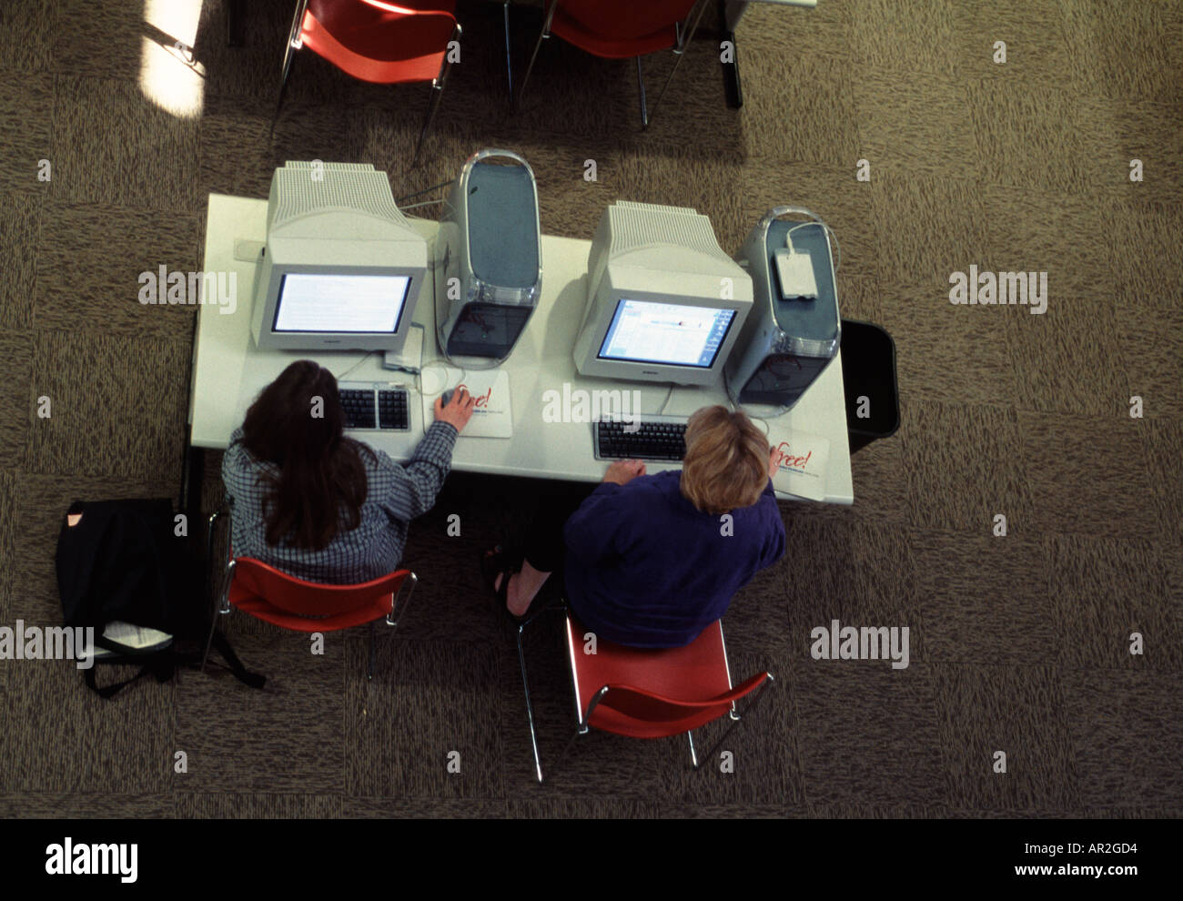 College-Studenten in Grafik-Design-Klasse bei den Computern. University of Nebraska in Lincoln, USA. Stockbild