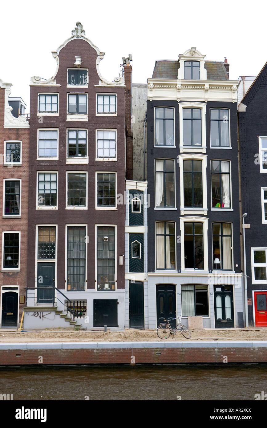holland amsterdam zeile kanal der alten seite h user mit. Black Bedroom Furniture Sets. Home Design Ideas