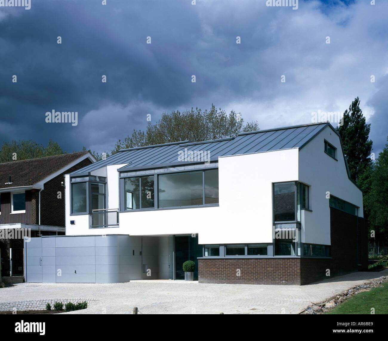 Modernes Haus mit Keller Pool, Hampstead. Von außen. Architekt ...