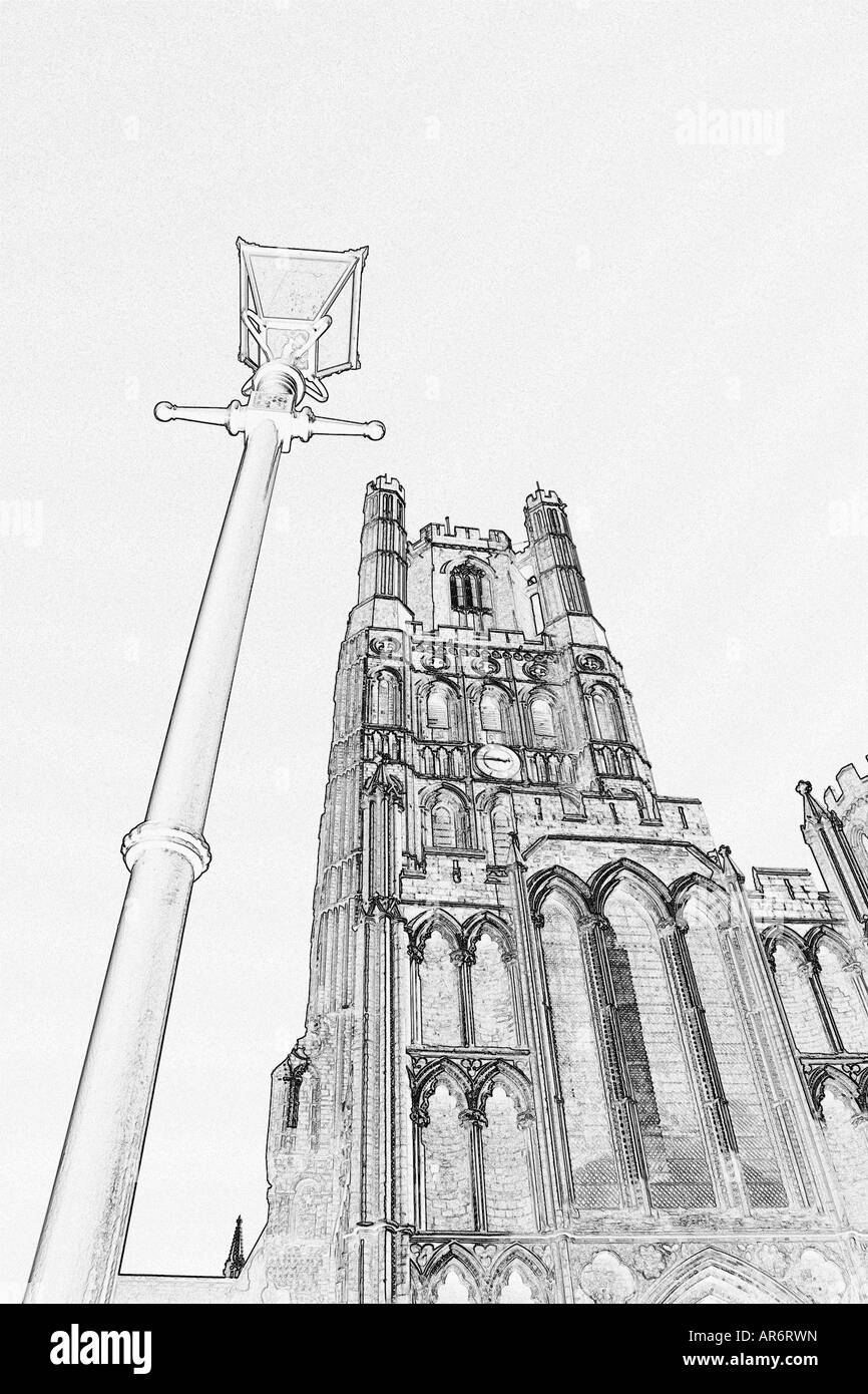 Ely Kathedrale, digitale Kunst Stockbild