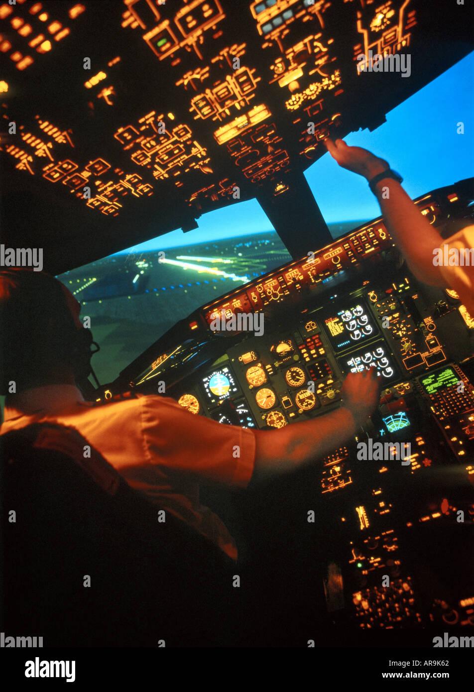 Airplane cockpits stockfotos airplane cockpits bilder for Interieur boeing 757