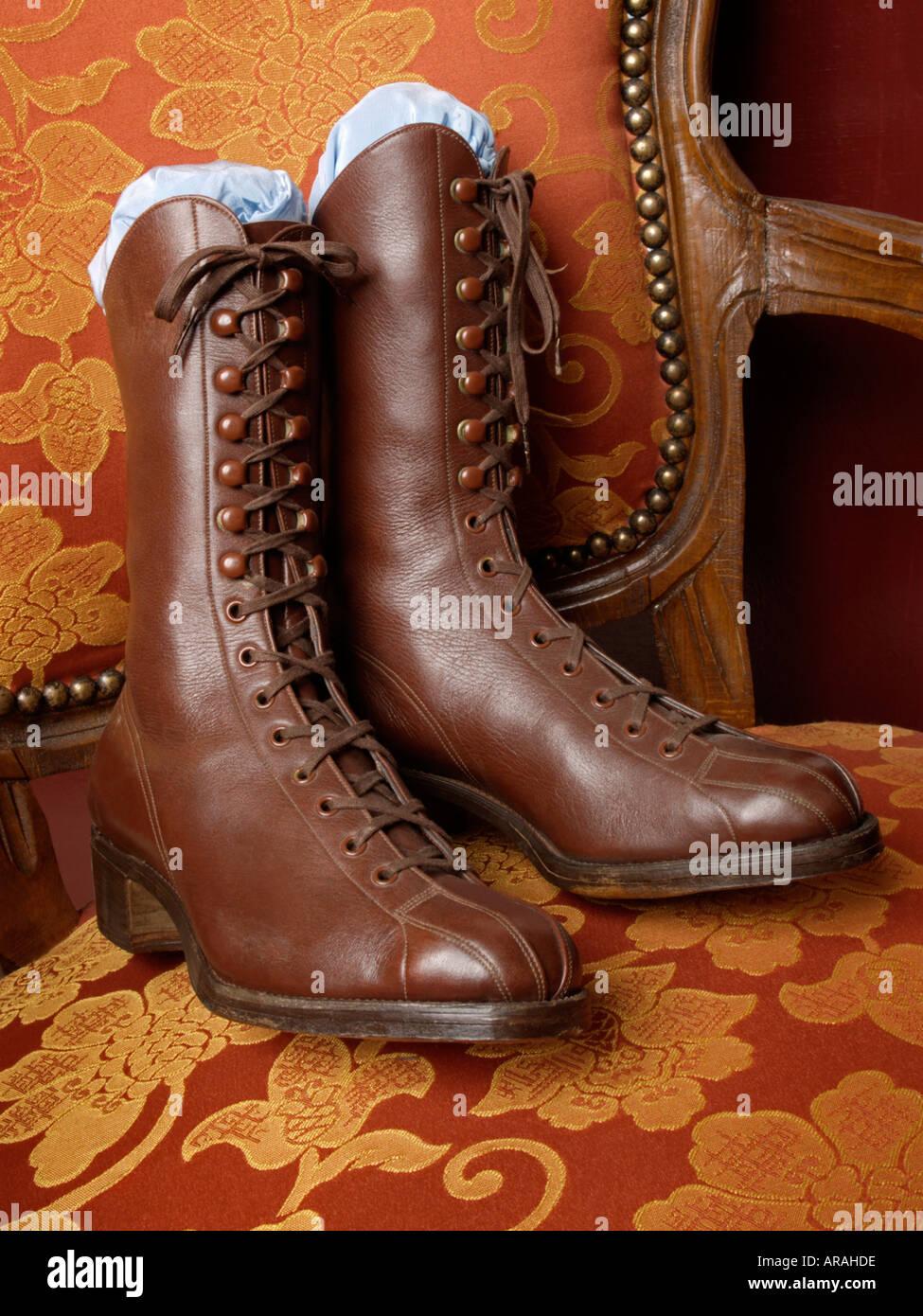 Alte Stiefel Nostalgische Schuhe Geschnürten Auf Damen l3KJ1uTFc